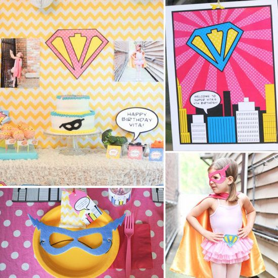 Love the idea of a superhero party for a little girl.  I'm avoiding the Princess phase as much as possible!