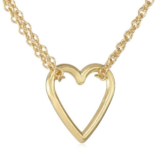 Adina reyter yellow gold plated sterling silver tiny heart necklace