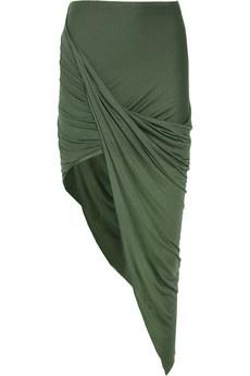 Slack asymmetric jersey skirt