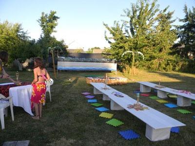 backyard luau tiki hawaiian party ideas pinterest