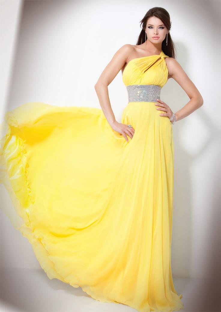 Yellow Jovani Prom Dresses 40