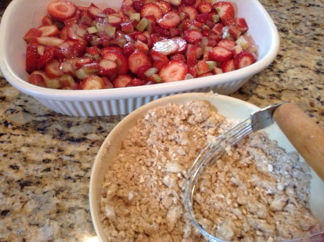 The best Strawberry Rhubarb Crisp Recipe sure to please the family.