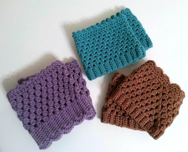 Beginner Crochet Boot Cuff Pattern : Crochet boot cuffs Boot cuffs Pinterest