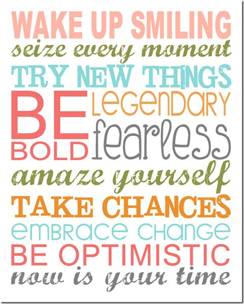 Start the new year off on the right foot! Put up these inspirational subway art printables in your home or office to help encourage you to be your best self