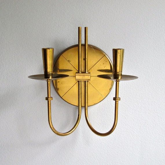 Tommi Parzinger Brass Candle Wall Sconce 1950s Mid Century Modern Lig?