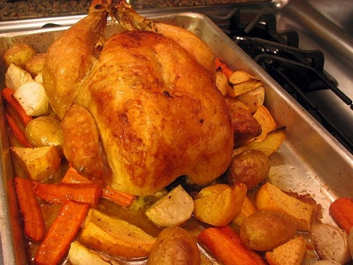 Thomas Keller's Roasted Chicken with Root Vegetables. Honestly, the ...