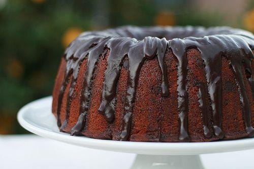 Ina Garten's Blood Orange Chocolate Chunk Bundt Cake on Food Librarian