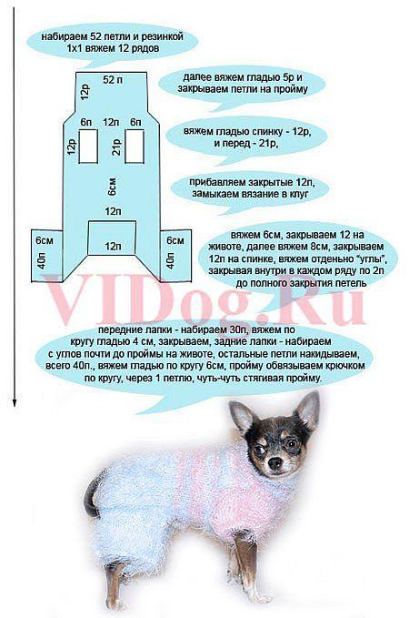 Вязание одежды для собак для начинающих