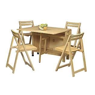 folding table with chair storage homeschool room