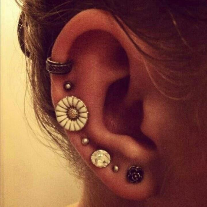 Multiple ear piercings | Jewelry | Pinterest Ear Piercings Pinterest