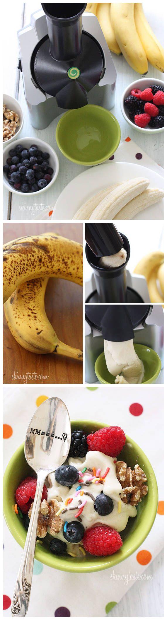Guiltless Banana Ice Cream | Snacks | Pinterest