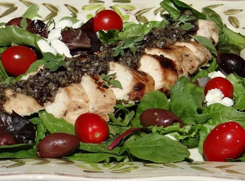 greek salad with grilled chicken | salads with sass | Pinterest