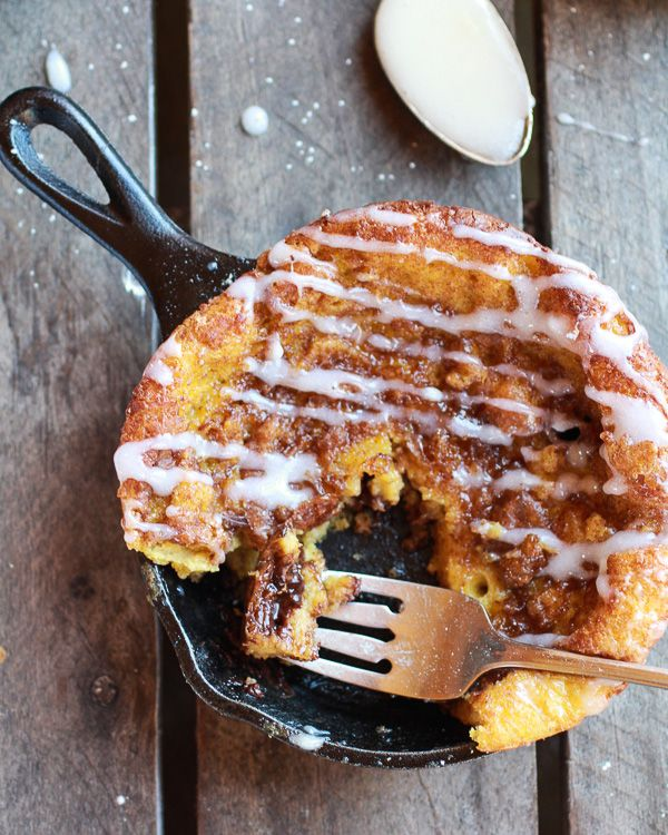 Chocolate Chip Pumpkin Cinnamon Roll Dutch Baby - ditch the glaze and ...