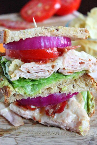 Turkey Club Melt Sandwich | Recipe