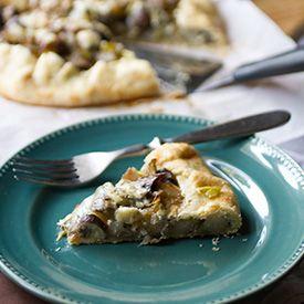 Potato, Mushroom, and Leek Galette | Food Idears | Pinterest