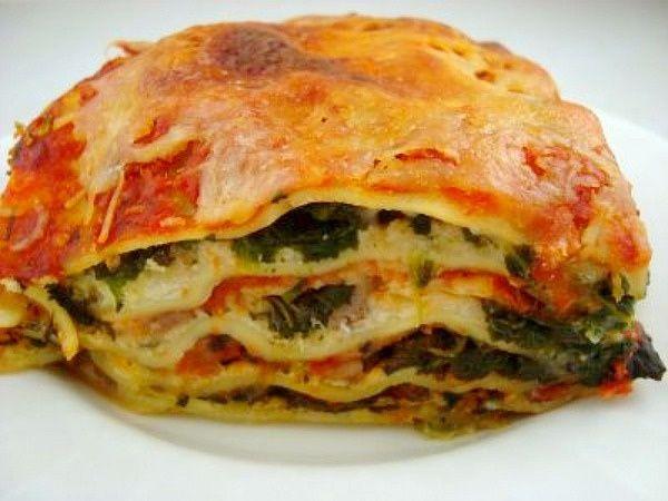 Spinach Italian Sausage Lasagna | food | Pinterest