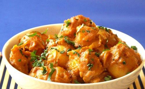 Dum Aloo: Potatoes Simmered in Spices & Coconut Milk - Vegan