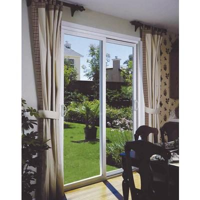 Stanley doors double sliding patio door 5 foot 60 for Double sliding patio doors