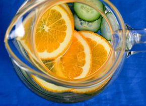 Cucumber-Orange Water - the clean flavors of cucumber and orange steep ...