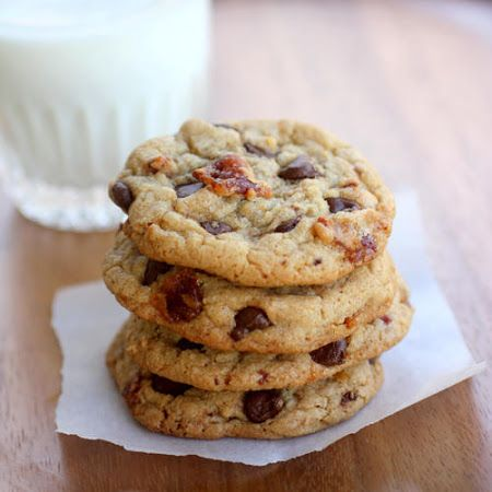 Candied Bacon Chocolate Chip Cookies | Debs SweetTooth | Pinterest