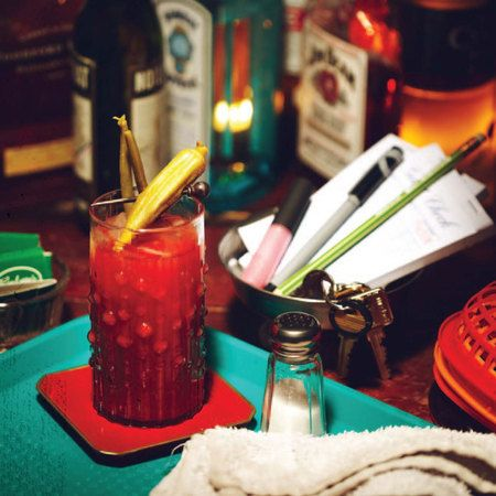 Halloween Bloody Mary from the True Blood Bon Temps cookbook | Recipe
