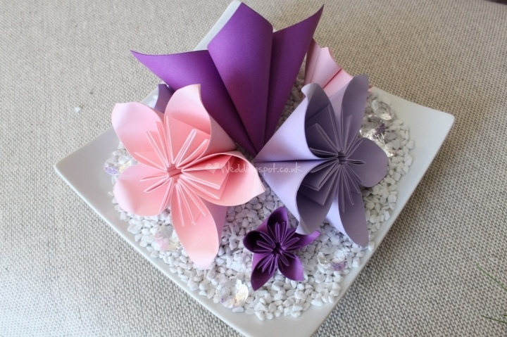 origami centerpiece weddings pinterest