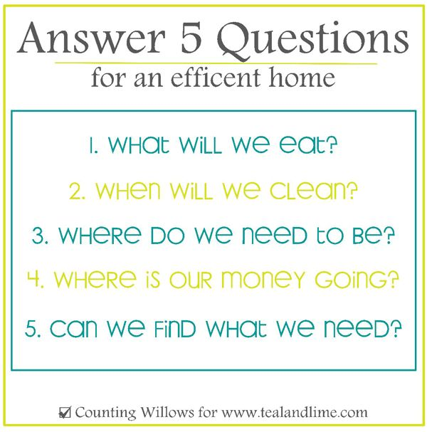 The 5 Keys to an Efficient Home |Counting Willows for www.tealandlime.com