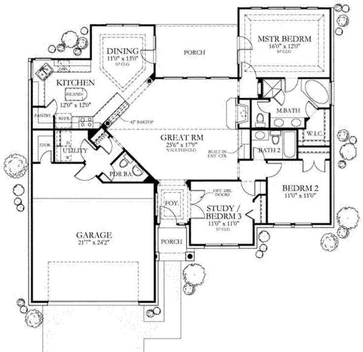 Main Floor Plan 1500 Sq Ft Pour Notre Maison Pinterest