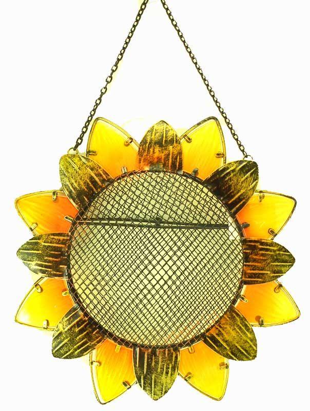 Sunflower Shaped Bird Feeder Outdoor Ideas Pinterest