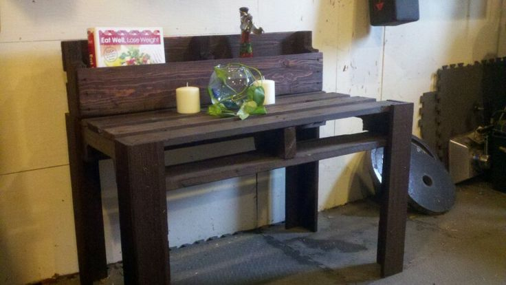 1st Table Stained And Sold Pallet Furniture For Sale