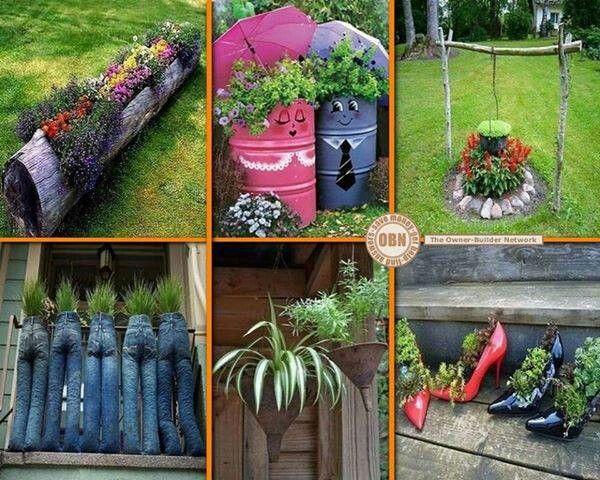 Gardening ideas log planter gardenology pinterest - Garden log decorations ...