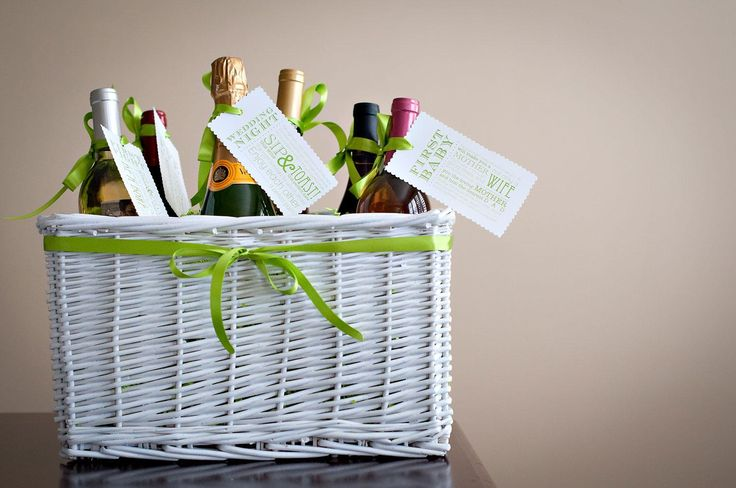 Bridal Shower Diy Gift Basket : DIY Tutorial: DIY Bridal Shower / DIY Bridal Shower Gift: Wine Basket ...