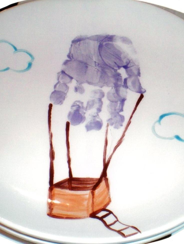 Hot air balloon handprint infants pinterest for Balloon art project
