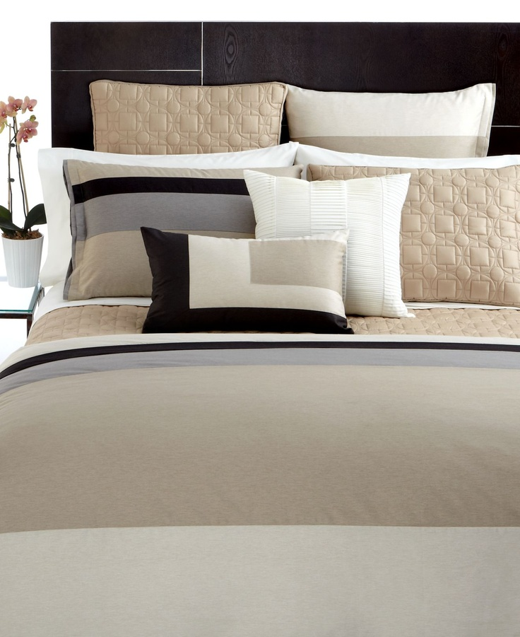Hotel Collection Panel Stripe Macy 39 S Bedding Pinterest