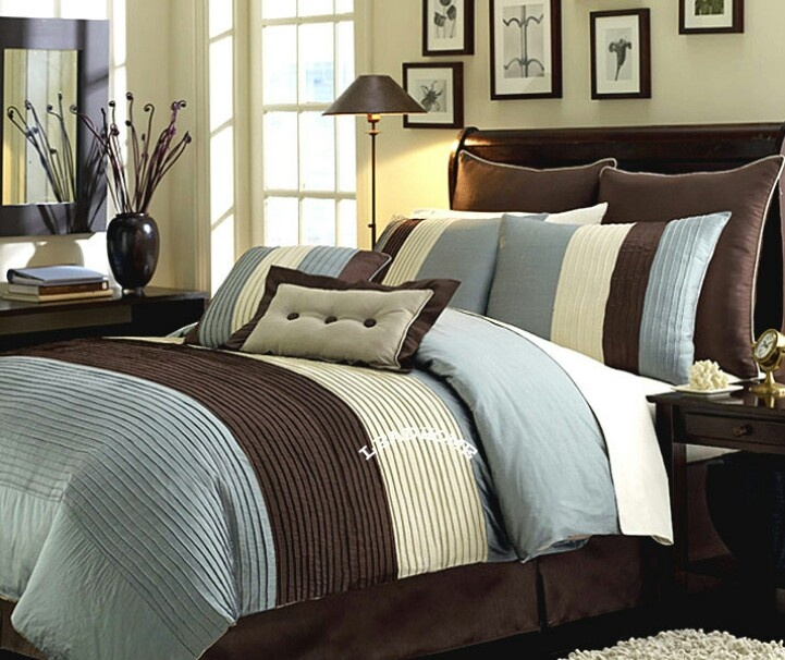 Brown and blue bedding | For the home :) | Pinterest