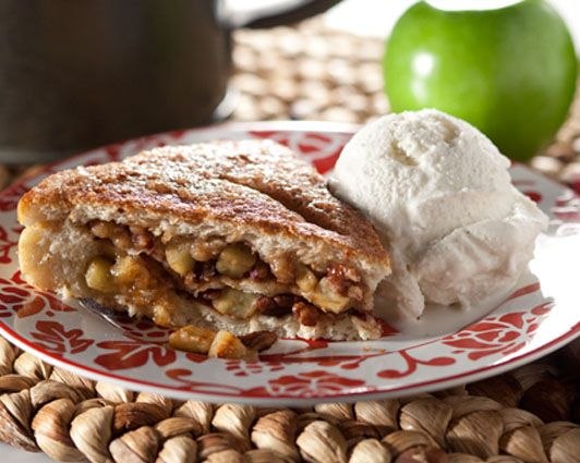 ... this wonderful fall treat, topped with a scoop of vanilla ice cream
