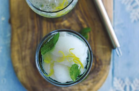 Lemon and mint sgroppino | Recipe