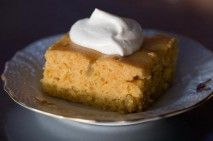 Pumpkin Cake with Whiskey Whipped Cream... pretty sure I'd like to ...