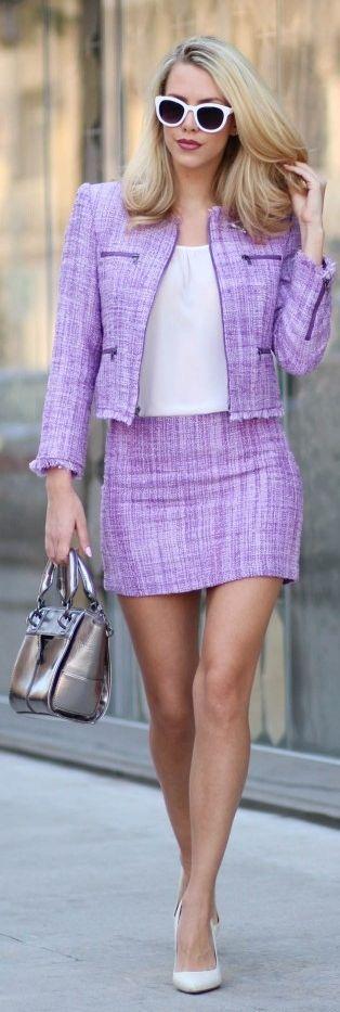 Lavender Tweed Suit