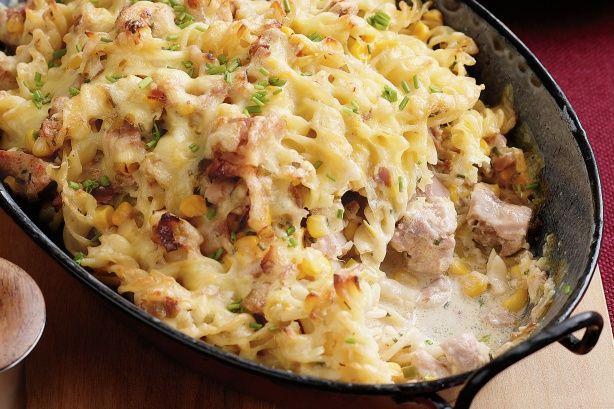 Creamy chicken fusilli bake | food & recipes | Pinterest