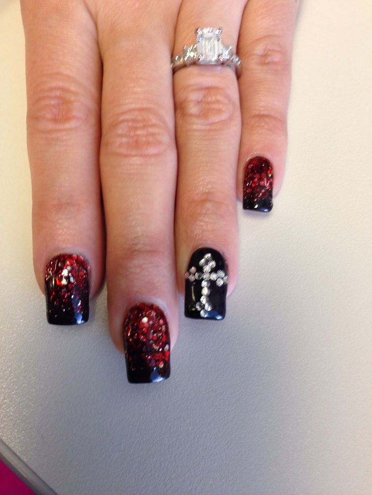 Vampire nail art | Nails | Pinterest