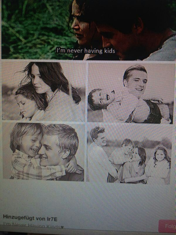 "Katniss and peeta with their children | ""If we burn, you ..."