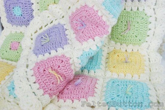 Puffy Crochet Baby Blanket Pattern : Crochet Pattern Blanket, Puffy Patch Quilt, Baby