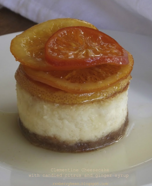 ... : Clementine Cheesecake with Candied Citrus and Ginger Syrup