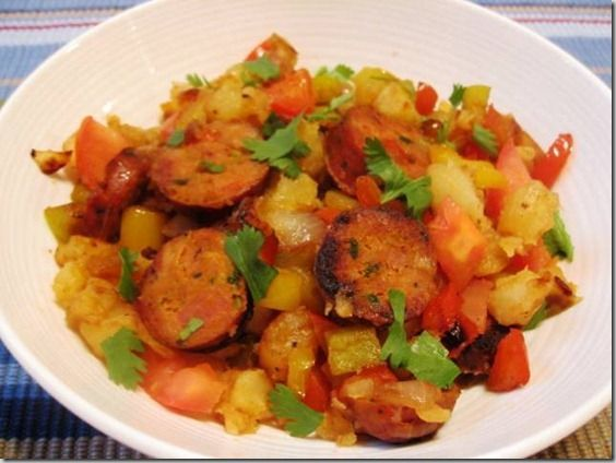 Sausage Potatoes Onions and Peppers | Nom Noms | Pinterest
