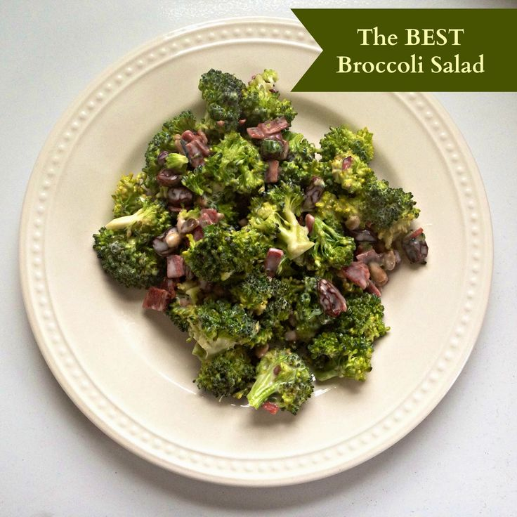 All in All: The Best Broccoli Salad. Don't know how I feel about this ...