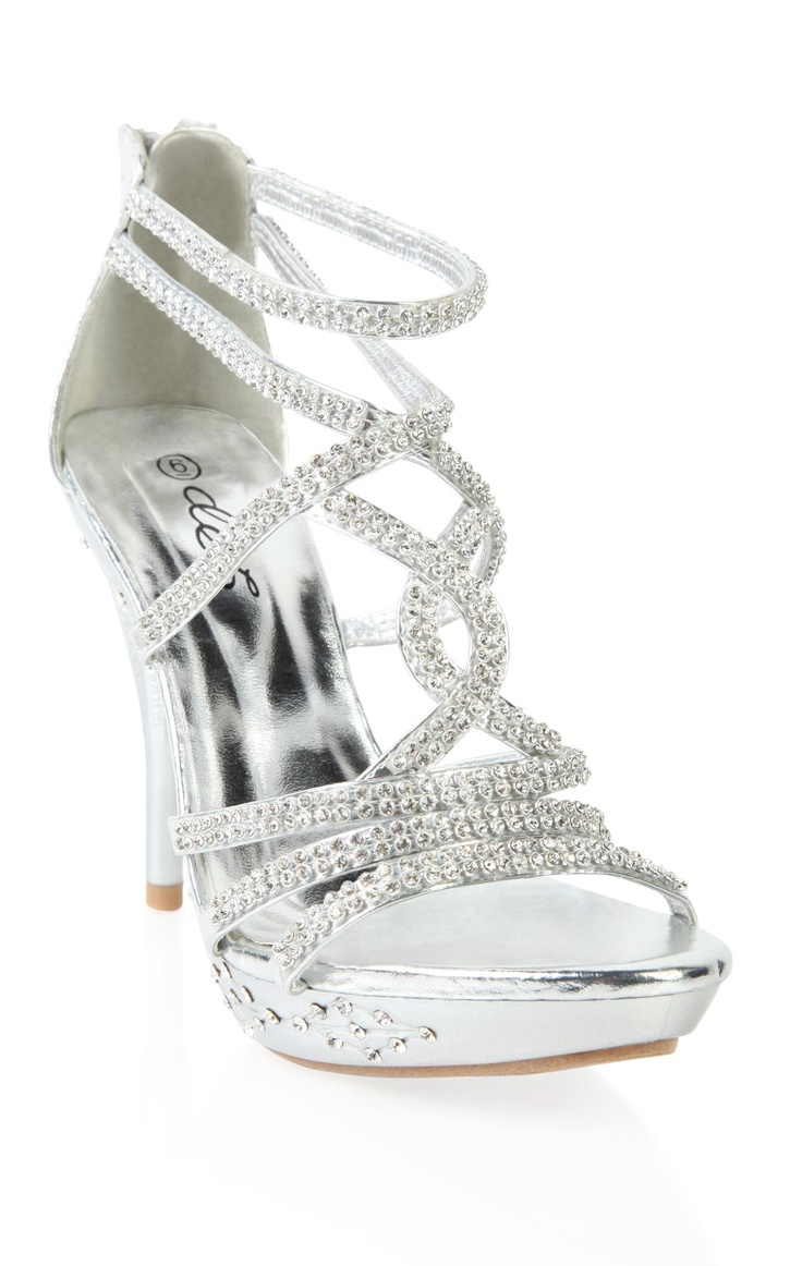 open toe silver rhinestone high heel style ideas for
