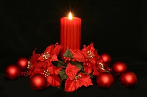 Red Candle Christmas Centerpiece Christmas Centerpiece
