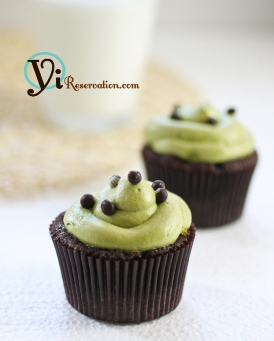 Green Tea Chocolate Jam Filled Cupcakes | I'm Good at Birthdays | Pin ...