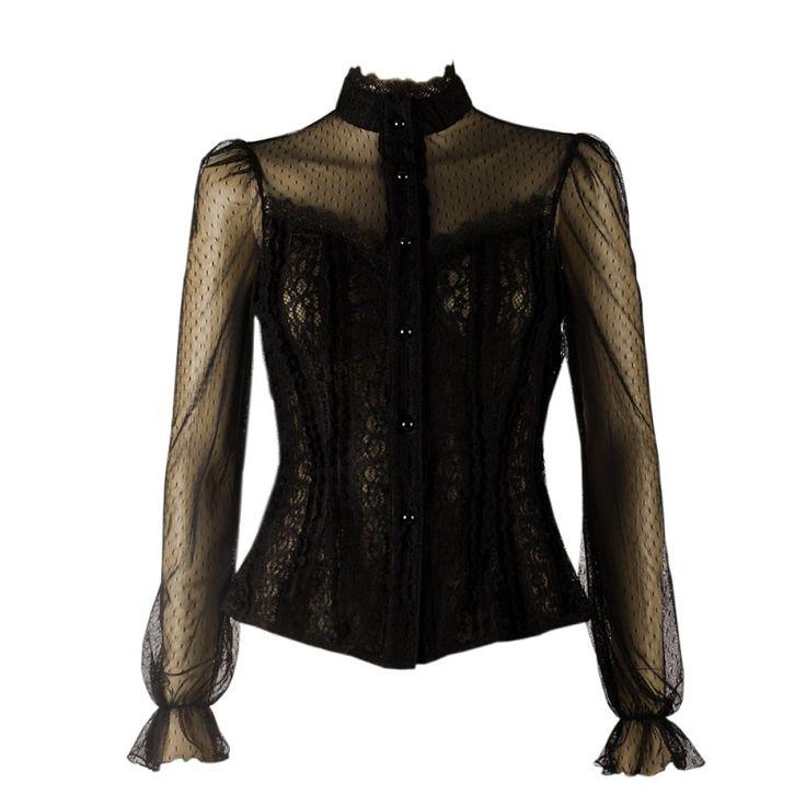 Zwarte Gothic Blouse 60